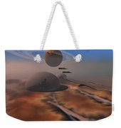 Two Aircraft Fly Over Domes Weekender Tote Bag