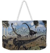 Two Allosaurus Predators Plan Weekender Tote Bag
