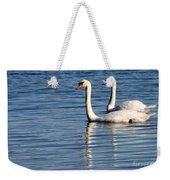 Two Beautiful Swans Weekender Tote Bag by Sabrina L Ryan