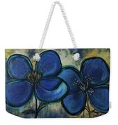 Two Blue Poppies Weekender Tote Bag