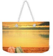 Two Canoes Weekender Tote Bag