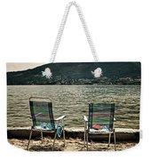Two Chairs Weekender Tote Bag by Joana Kruse