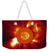 Two Coronal Mass Ejections Weekender Tote Bag by Solar & Heliospheric Observatory consortium (ESA & NASA)