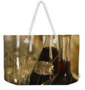 Two Decanters Of Port Wine And Glasses Weekender Tote Bag