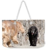 Two Dogs Weekender Tote Bag