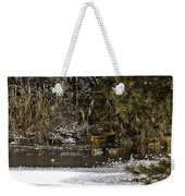 Two Ducks And A Tub Weekender Tote Bag