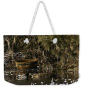 Two Ducks And A Tub Square Weekender Tote Bag