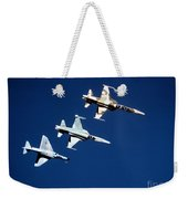 Two F-5 Tiger IIs And An A-4e Skyhawk Weekender Tote Bag