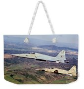 Two F-5e Tiger IIs In Flight Weekender Tote Bag