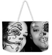 Two Faces In Black And White Weekender Tote Bag