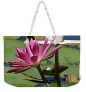 Two Graceful Water Lilies Weekender Tote Bag