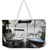 Two Hanging Boats Weekender Tote Bag