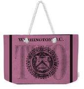 Two In Light Pink Weekender Tote Bag