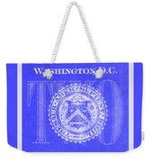 Two In Negative Blue Weekender Tote Bag
