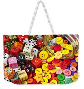 Two Jars Dice And Buttons Weekender Tote Bag