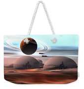 Two Jet Aircraft Fly Over Dome Weekender Tote Bag