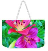 Two Lily Flowers Weekender Tote Bag