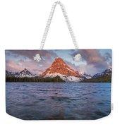 Two Medicine Lake Panorama Weekender Tote Bag
