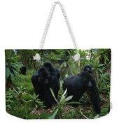Two Mother Gorillas Carrying Weekender Tote Bag