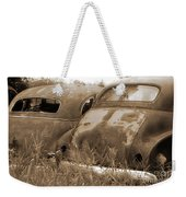 Two Old Rear Ends-sepia Weekender Tote Bag