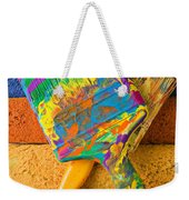 Two Paintbrushes On Paint Rollers Weekender Tote Bag