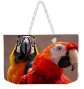 Two Parrots Closeup Weekender Tote Bag