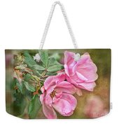 Two Pink Roses II Blank Greeting Card Weekender Tote Bag