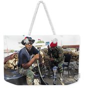 Two Rebel Fighters Man A Checkpoint Weekender Tote Bag