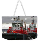 Two Red Tugs Weekender Tote Bag