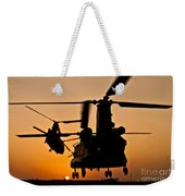 Two Royal Air Force Ch-47 Chinooks Take Weekender Tote Bag