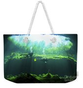Two Scuba Divers In The Cenote System Weekender Tote Bag by Karen Doody