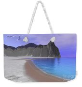 Two Seagulls Fly Over A Beautiful Ocean Weekender Tote Bag by Corey Ford