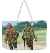 Two Snipers Of The Belgian Army Dressed Weekender Tote Bag