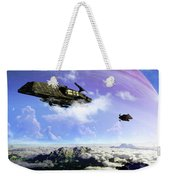 Two Spacecraft Prepare To Depart Weekender Tote Bag