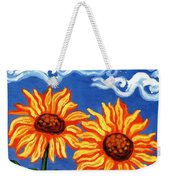 Two Sunflowers Weekender Tote Bag by Genevieve Esson