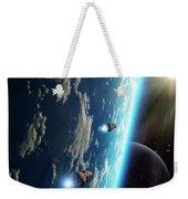 Two Survey Craft Orbit A Terrestrial Weekender Tote Bag by Brian Christensen