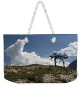 Two Trees Of Many Glacier Weekender Tote Bag