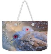 Two Turtle Doves Card Weekender Tote Bag