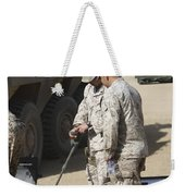 Two U.s. Marines Use A Mine Detector Weekender Tote Bag