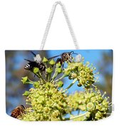 Two Wasps And A Bee Weekender Tote Bag