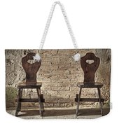 Two Wooden Chairs Weekender Tote Bag