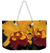 Two Yellow And Red Orchids Weekender Tote Bag