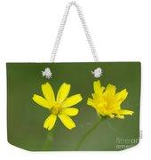 Two Yellow Flowers Weekender Tote Bag