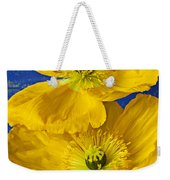 Two Yellow Iceland Poppies Weekender Tote Bag