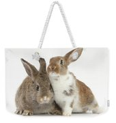 Two Young Rabbits Weekender Tote Bag