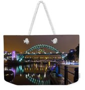 Tyne Bridge At Night Weekender Tote Bag