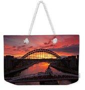 Tyne Bridges At Sunrise IIi Weekender Tote Bag