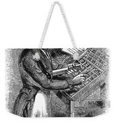 Typesetter, 19th Century Weekender Tote Bag