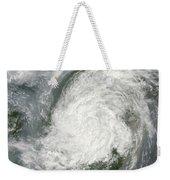 Typhoon Haikui Makes Landfall Weekender Tote Bag