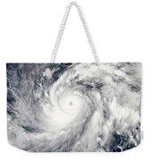 Typhoon Sanba Over The Pacific Ocean Weekender Tote Bag